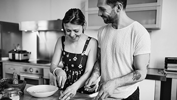 Couple making wise food choices for better sex